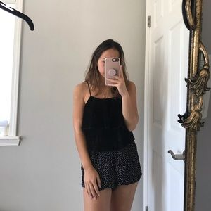 Zara Black Velvet top